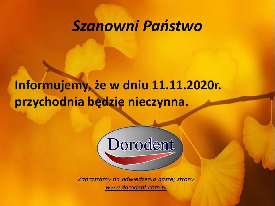 Przychodnia nieczynna 11.11.2020 r.